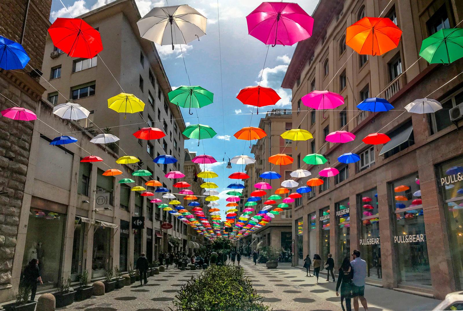 installazione ombrelli genova euroflora via cesarea